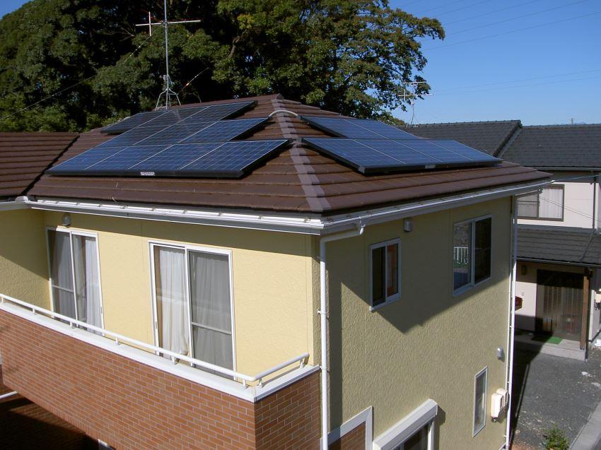 太陽光発電_寄棟屋根4